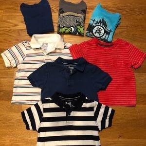 Bundle of 7 boys shirts size 24mo